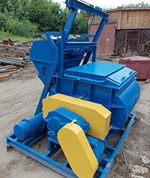Двухвальный бетоносмеситель БП-2Г-1000
